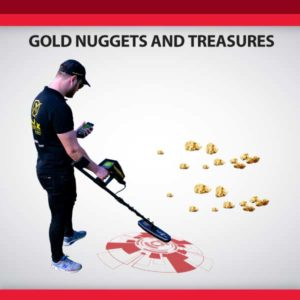 Treasures and gold nuggets detectors